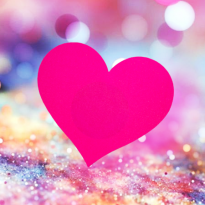bright_pink_heart__sparkles_background